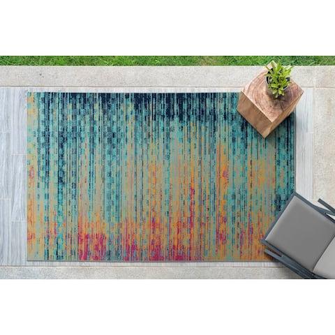 The Curated Nomad Belden Multicolor Indoor/ Outdoor Rug