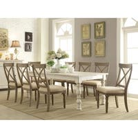 Copper Grove Wattrelos Weathered Worn White 9-piece Dining Set with Extendable Table