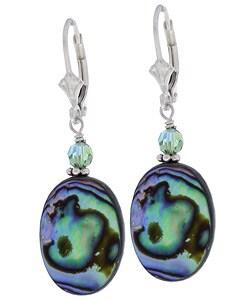 Lola's Jewelry Rainbow Paua Abalone Shell Earrings