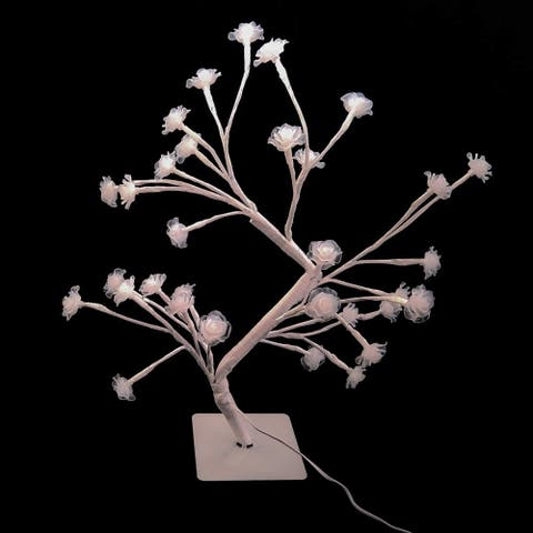 Fuji Labs 32 LED White Rose Tree Light