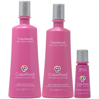 ColorProof CrazySmooth Anti-Frizz Shampoo, Conditioner & Leave-in Smooth 3-piece Set