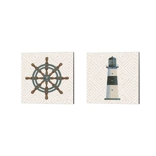 James Wiens 'A Day at Sea' Canvas Art (Set of 2)