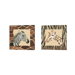 Regina Moore 'Safari' Canvas Art (Set of 2)