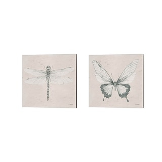 James Wiens 'Soft Summer Sketches' Canvas Art (Set of 2)