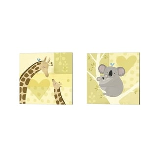 Victoria Borges 'Mama and Me B' Canvas Art (Set of 2)