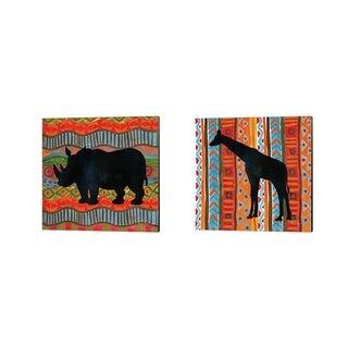 Farida Zaman 'African Animal B' Canvas Art (Set of 2)