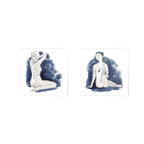 Grace Popp 'Blissful Solitude' Canvas Art (Set of 2)