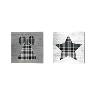 Beth Grove Nordic Holiday Plaid Canvas Art Set Of 2 On Sale Overstock 25583167