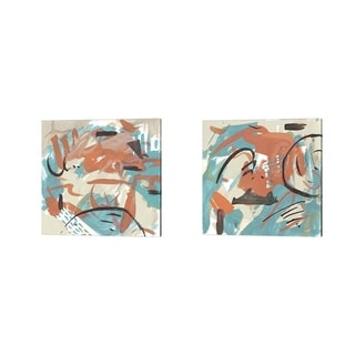 Melissa Wang 'Abstract Composition' Canvas Art (Set of 2)