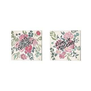 Janelle Penner 'Live in Bloom B' Canvas Art (Set of 2)
