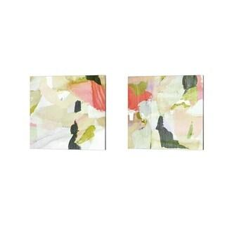 Victoria Borges 'Closeup A' Canvas Art (Set of 2)