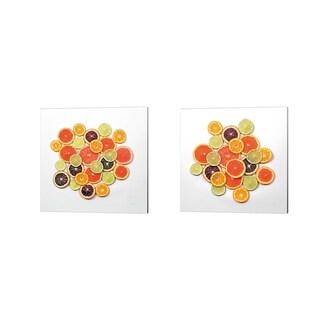 Felicity Bradley 'Sunny Citrus Crop' Canvas Art (Set of 2)