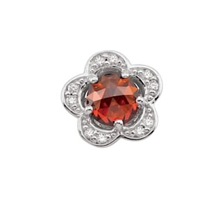 Link to Sterling Silver January Birthstone Flower Red Cubic Zirconia Charm Similar Items in Incontinence