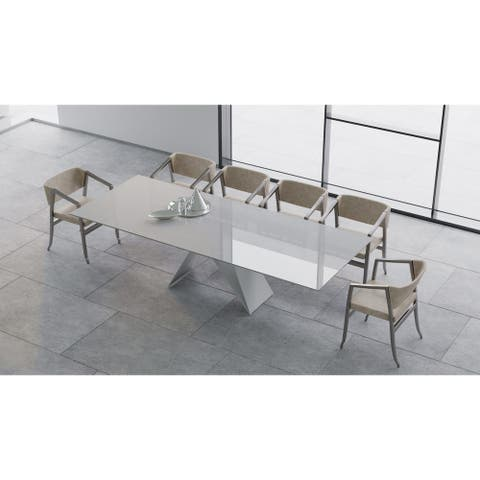 """B-Modern Maestro Extension Dining Table - White - 79""""/98.75""""w x 41.75""""d x30.25""""h"""