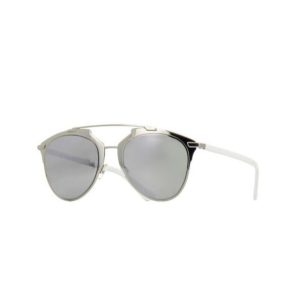 200a62b8562 Shop Christian Dior Women s Dior Reflected Silver and White Metal Sunglasses  - On Sale - Free Shipping Today - Overstock - 25583368