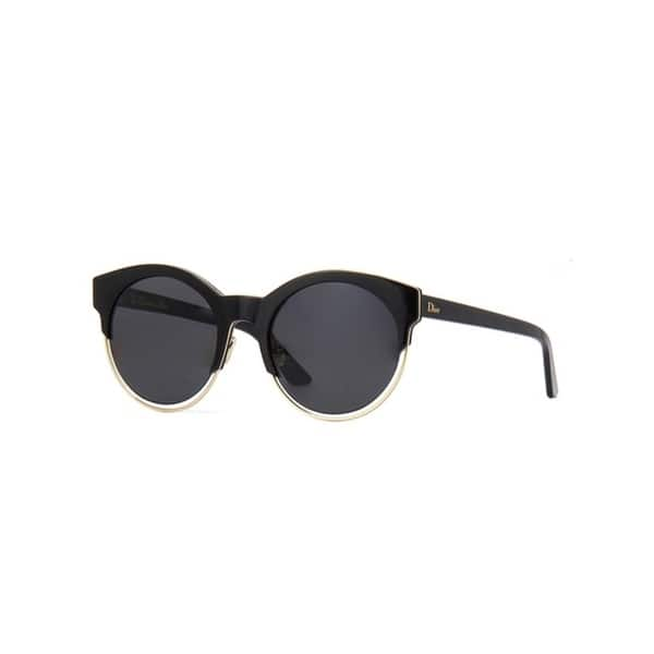 4d19d60377 Christian Dior Women s Dior Sideral 1 Black Goldtone Sunglasses with Grey  Lens