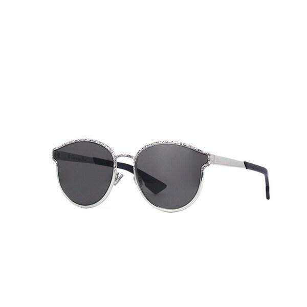107a35b4b32e78 Shop Christian Dior Women s Dior Symmetric Silver Metal Sunglasses - Free  Shipping Today - Overstock - 25583383
