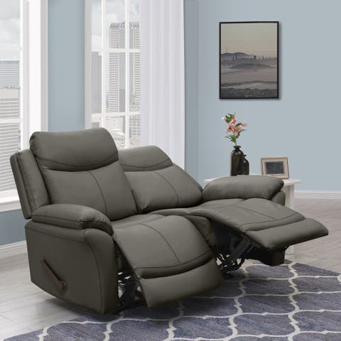 Copper Grove Peqin 2-seat Faux Leather Recliner Loveseat