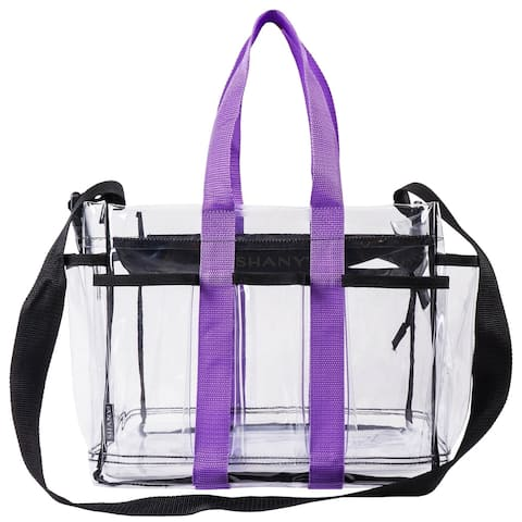 SHANY Clear Makeup Organizer and Travel Caddy with Straps and Multiple Pockets