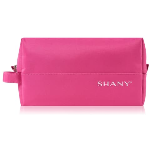 SHANY Nylon Zippered Toiletry Bag - Water-Resistant and Scratch-Proof - PINK