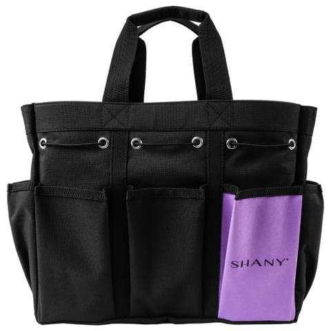 SHANY Beauty Handbag and Makeup Organizer Bag  Black Canvas