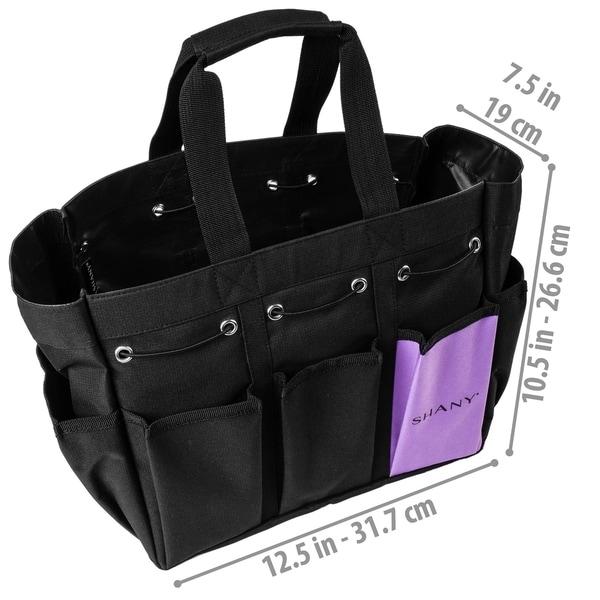 SHANY Beauty Handbag and Makeup Organizer Bag – Black Canvas
