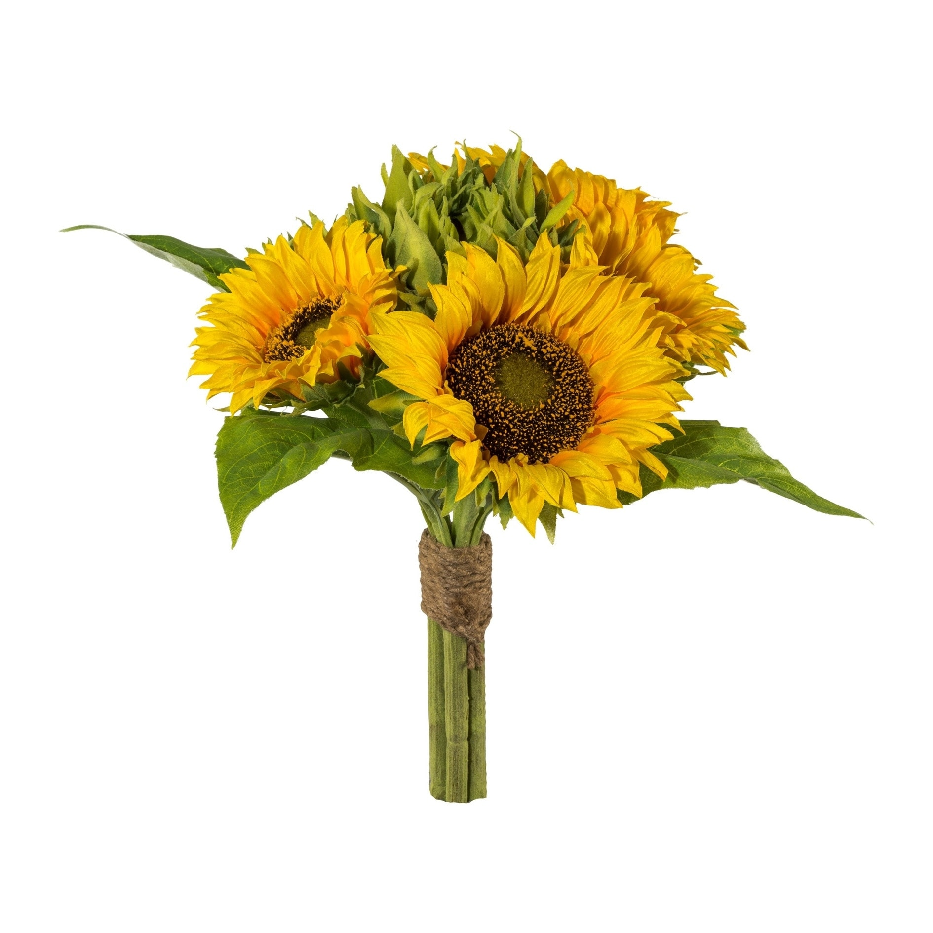 Artificial Fall Sunflower Bouquet 6 Large Flowers In 1 Bunch Overstock 25585349