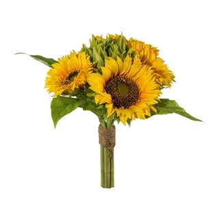 Artificial Fall Sunflower Bouquet, 6 large Flowers in 1 Bunch
