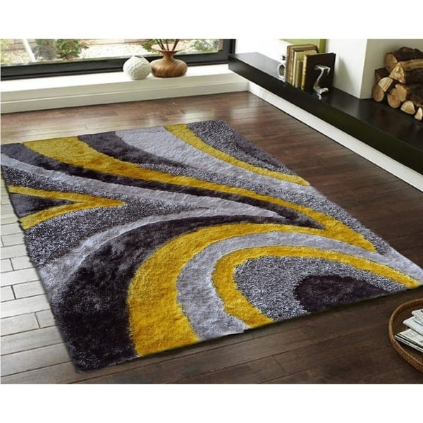 Gray 8x11 Area Rugs: Shop Gray And Yellow 8x11 Area Rug