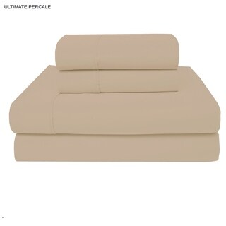 Ultimate Percale 400 TC Cotton Percale Sheet Set With Pillowcase