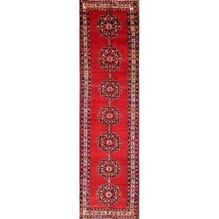 """Traditional Hand Knotted Heriz Persian Wool Rug - 12'6"""" x 3'3"""" runner"""