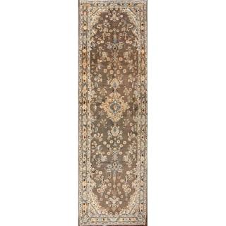 "Hand Made Wool Traditional Malayer Hamedan Persian Rug - 13'1"" x 3'11"" runner"