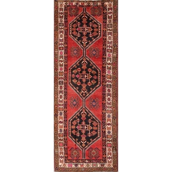 """Traditional Goravan Heriz Persian Rug for Hallway - 10'8"""" x 4' runner"""