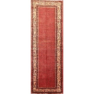 "Hand Knotted Wool Botemir Vintage Persian Rug for Hallway - 10'3"" x 3'6"" runner"
