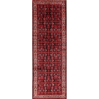 "Hamedan Hand Made Wool Persian Traditional Rug - 10'2"" x 3'5"" runner"