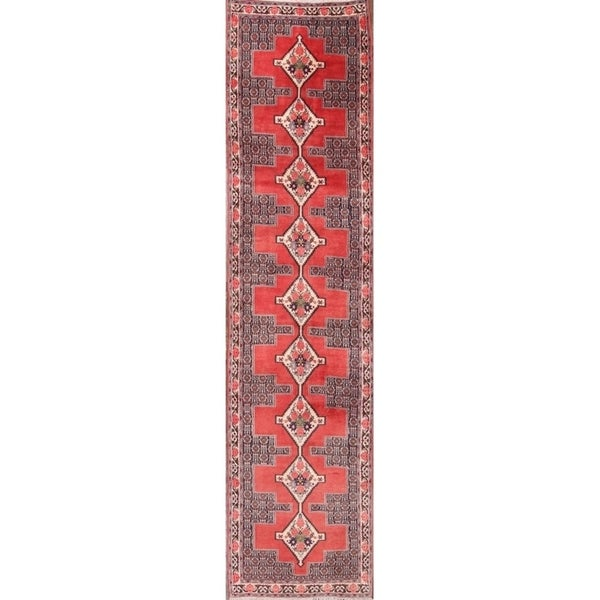 "Hand Made Bidjar Hand Knotted Persian Rug - 12'2"" x 3'0"" runner"