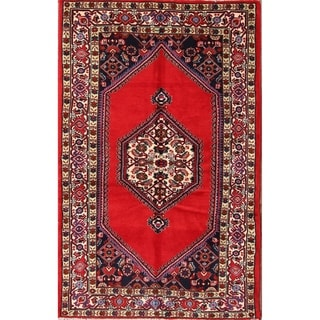 """Oriental Hand Made Traditional Hamedan Persian Area Rug Hand Knotted - 5'4"""" x 3'5"""""""