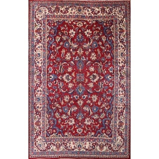 "Yazd Handmade Medallion Vintage Persian Area Rug for Living Room - 16'4"" x 10'6"""
