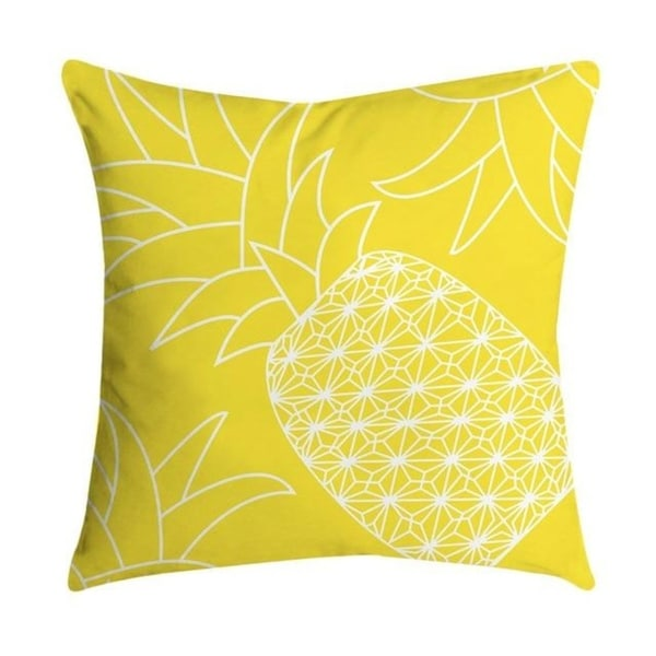 Pineapple Leaf Yellow Throw Pillow Case 21299285-322