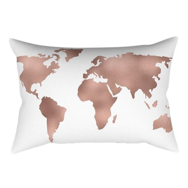 New Rose Gold Pink Throw Pillow Case Square 21301503-386