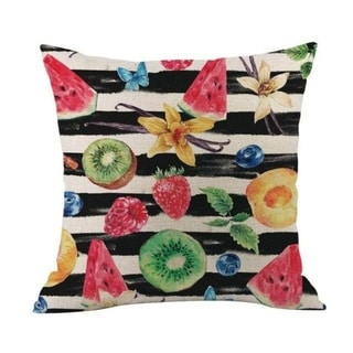 Flower Printed Linen Cotton Pillow Case 21303031-633