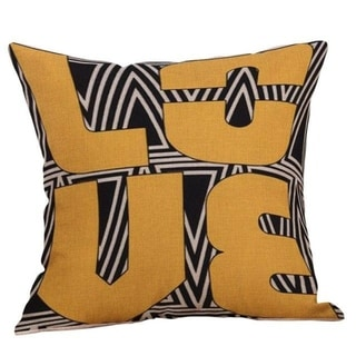Yellow Geometric Fall Autumn Cushion Cover 21301686-418