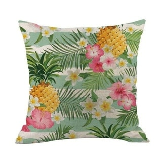 Flower Printed Linen Cotton Pillow Case 21303031-636