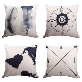 Geography Theme Throw Pillow Covers 45x45cm 21302393-566