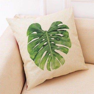 Big Leaf Tropical Plants Throw Pillow Covers 19280696-218