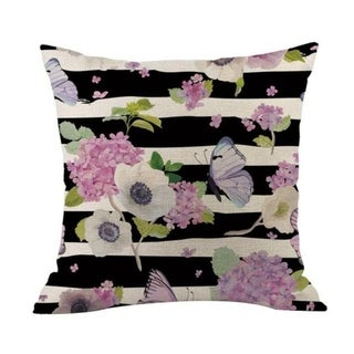 Flower Printed Linen Cotton Pillow Case 21303031-635