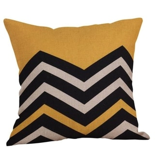 Yellow Geometric Fall Autumn Cushion Cover 21301686-420