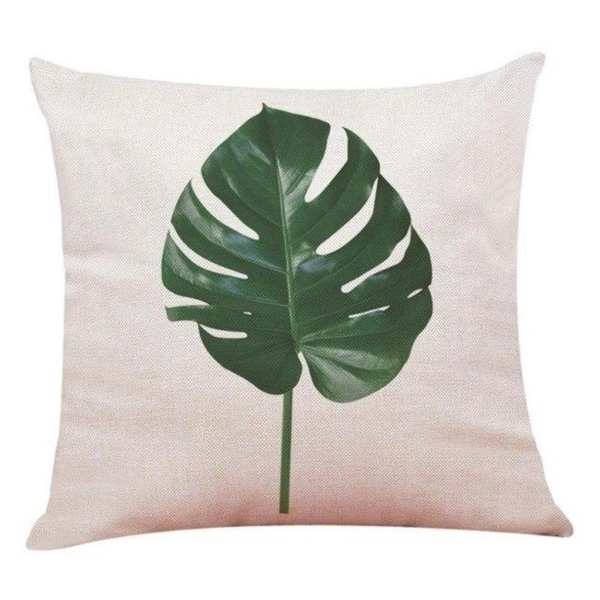 Big Leaf Tropical Plants Throw Pillow Covers 19280696-221