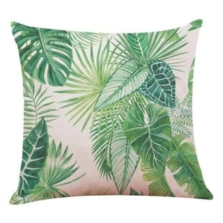 Big Leaf Tropical Plants Throw Pillow Covers 19280696-222