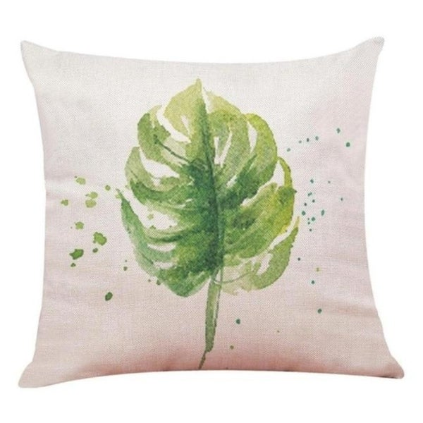 Big Leaf Tropical Plants Throw Pillow Covers 19280696-227
